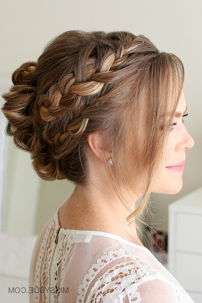 Double French Braid Mohawk Bun | Missy Sue Pertaining To Current Braided Bun With Two French Braids (View 13 of 15)