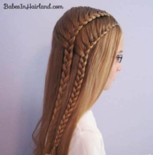 Double French Braid Tutorial 10 Loose Hair With Double French Braids Within Most Current Loose Hair With Double French Braids (Gallery 4 of 15)