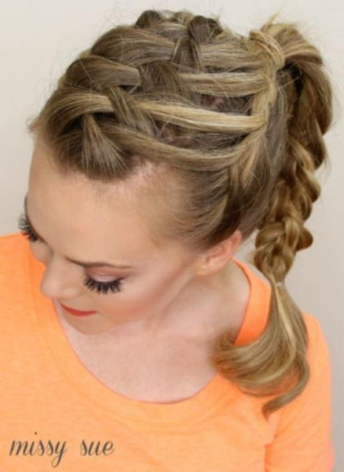 Double French Braid With Weave 7 Lattice Weave With High Braided With Regard To Most Popular Lattice Weave With High Braided Ponytail (Gallery 1 of 15)