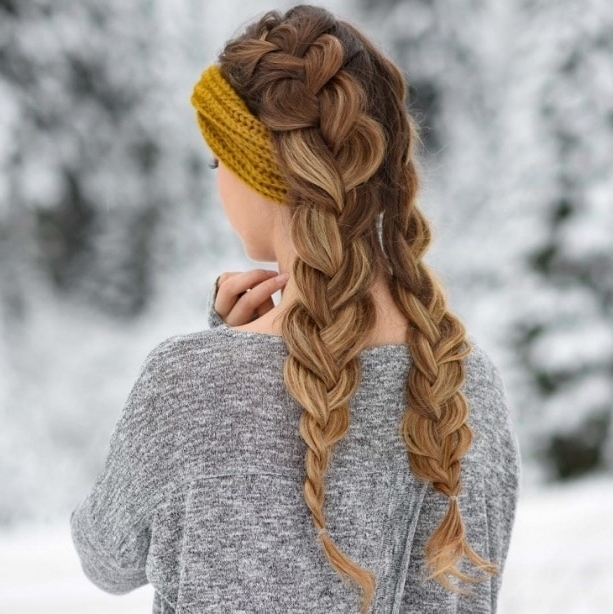 Double French Braids: How To Create + 10 Best Styles – Hairstylecamp Throughout Best And Newest Loose Hair With Double French Braids (Gallery 2 of 15)
