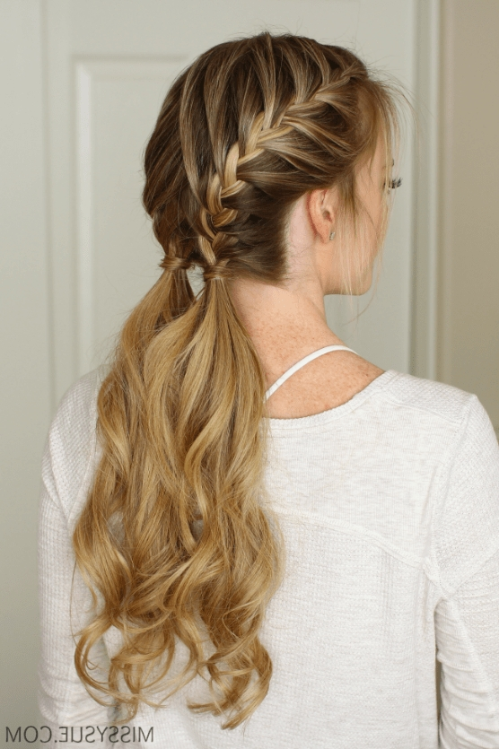 Double French Braids: How To Create + 10 Best Styles – Hairstylecamp Within Latest French Pull Back Braids Into Ponytail (View 2 of 15)