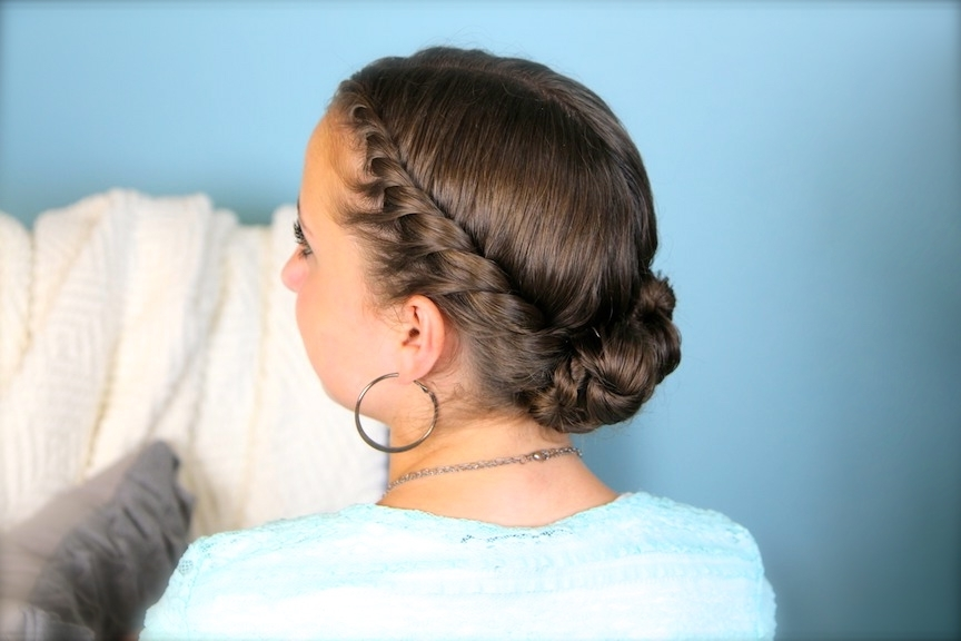 Double Twist Bun Updo | Hair Color Ideas And Styles For 2018 Inside Latest Jumbo Double Twisted Updo (Gallery 15 of 15)