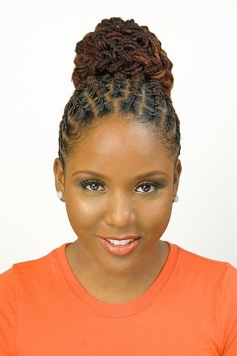 Dreadlock Twist Cute Bun Hairstyle | Natural Hair | Pinterest | Bun Regarding Latest Braided Dreads Hairstyles For Women (Gallery 3 of 15)