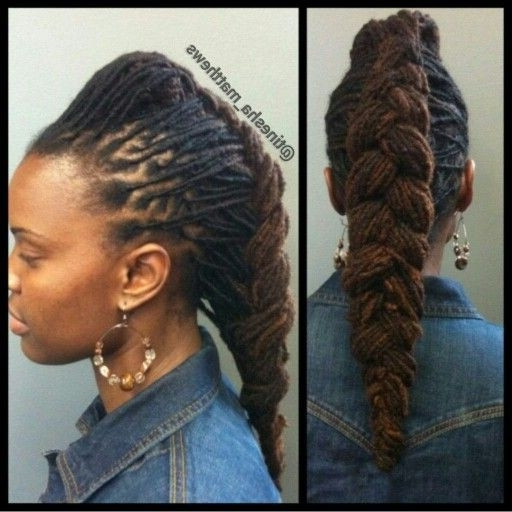 Dreadlocks Hairstyles For Weddings New Loc Updo Great For A Wedding Within Best And Newest Braided Dreads Hairstyles For Women (Gallery 8 of 15)