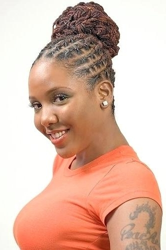 Dreads Styles For Women Flat Braided Dreadlocks For Women Hairstyles Pertaining To Current Braided Dreads Hairstyles For Women (View 10 of 15)