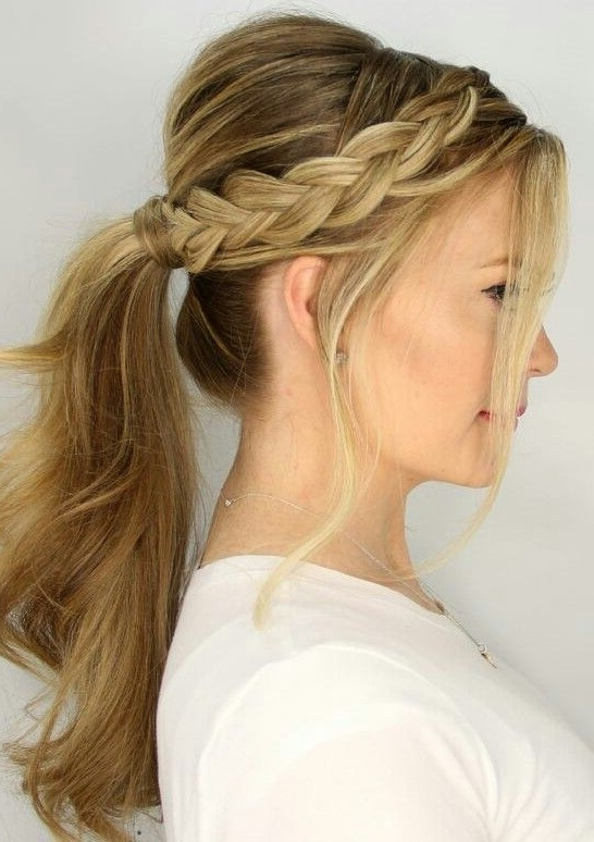 Dutch Braid Ponytail | Eszter & Kari Wedding | Pinterest | Braided In Most Recent Pair Of Braids With Wrapped Ponytail (View 8 of 15)