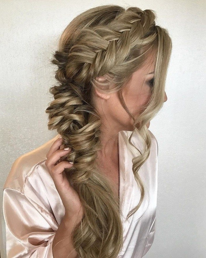 Dutch Crown Braided Turn To Fishtail Braided Hairstyle,boho Intended For Most Up To Date French Braids Crown And Side Fishtail (Gallery 5 of 15)