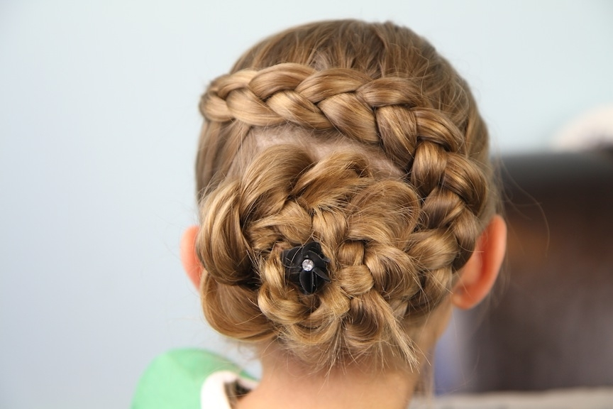 Dutch Flower Braid | Updo Hairstyles | Cute Girls Hairstyles Regarding Current French Braids In Flower Buns (Gallery 12 of 15)
