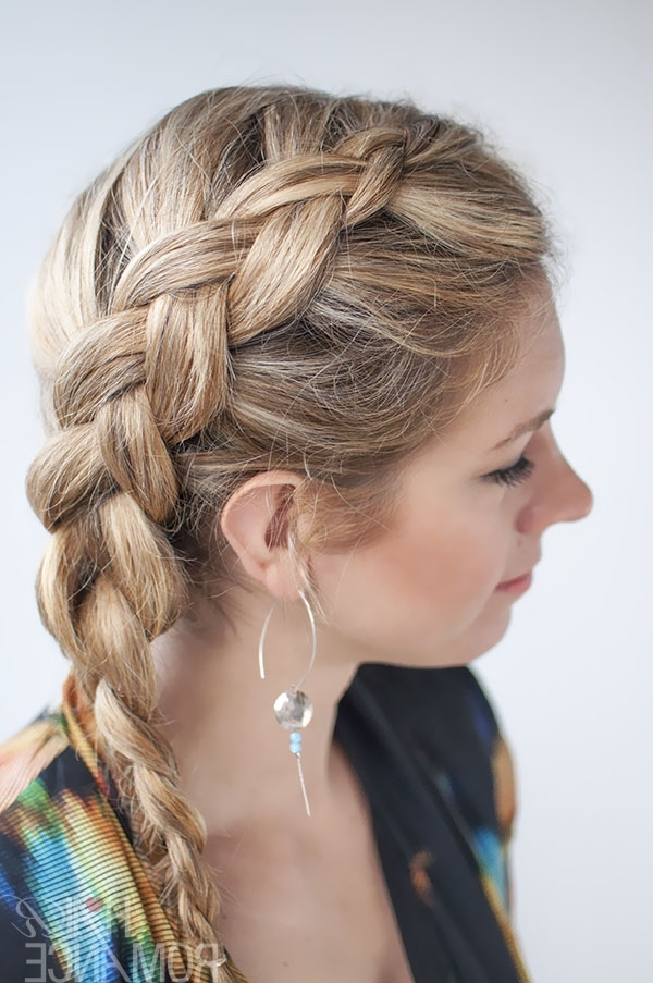 Dutch Side Braid Hairstyle Tutorial – Hair Romance With Most Recent Braided Hairstyles To The Side (View 11 of 15)