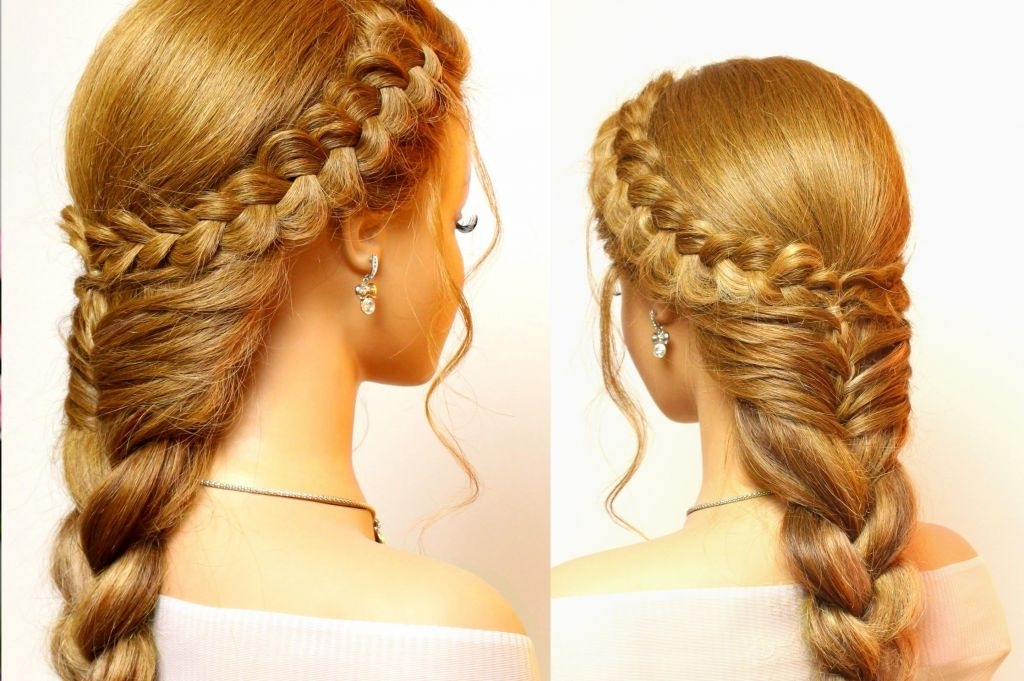 ? 24+ Fresh Braiding Hairstyles For Long Hair: Braided Hairstyle In Recent Plaits Hairstyles Youtube (View 12 of 15)