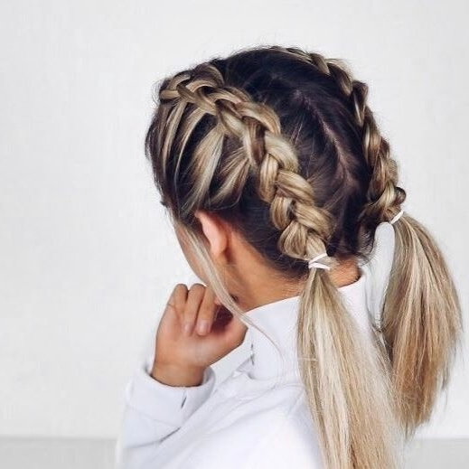 ? Join Our Pinterest Fam: @skinnymetea (140K+) ? Oh, Also Use Our For Most Recent Blonde Pony With Double Braids (View 5 of 15)