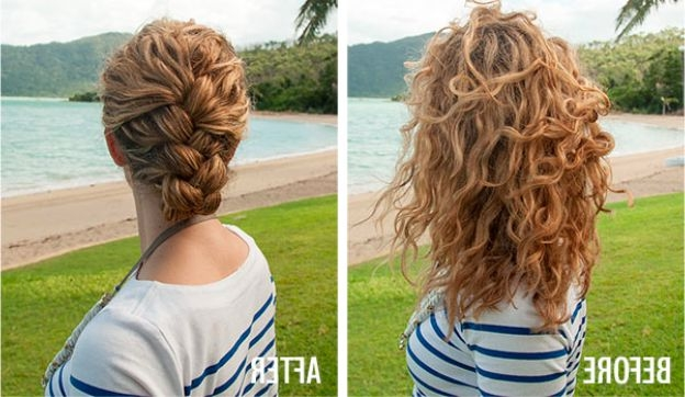 Easiest Tucked French Braid Tutorial Ever | Naturallycurly With Regard To Most Current Pinned Up French Plaits Hairstyles (View 14 of 15)