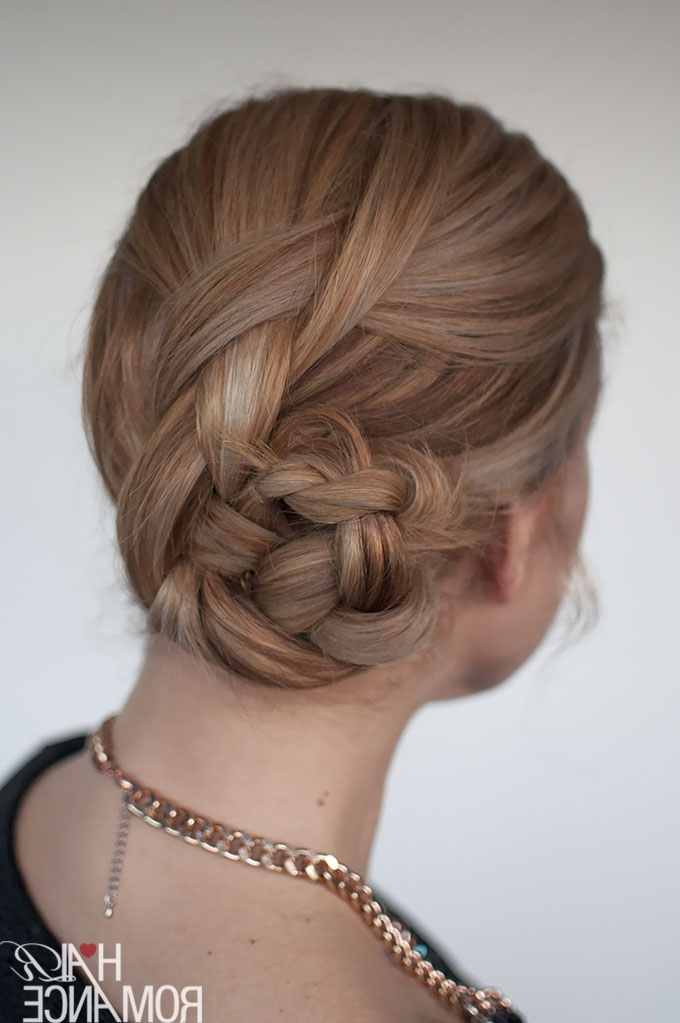 Easy Braided Bun Hairstyle Tutorial – Hair Romance Pertaining To Recent Braid And Bun Hairstyles (View 15 of 15)