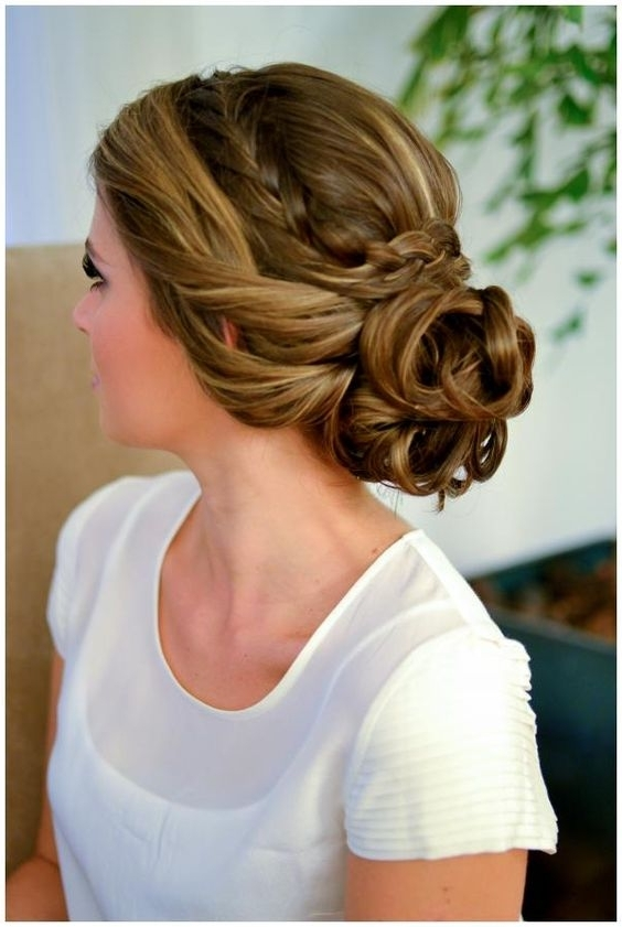 Easy Braided Bun Up Do Hairstyles Within Most Popular Braided Bun Hairstyles (View 2 of 15)