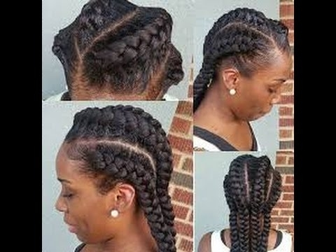 Easy Braided Hairstyles For Black Hair   Hrp Within Most Popular Braided Hairstyles On Relaxed Hair (View 11 of 15)