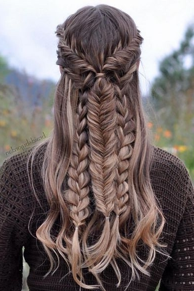 Easy Braided Hairstyles For Spring 2017 | Braid Tutorials, Tutorials Inside Most Recently Triple Braid Hairstyles (View 11 of 15)
