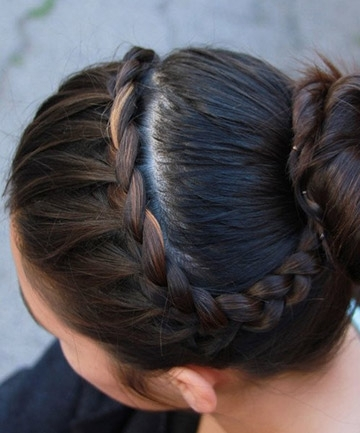 Easy French Braid Bun , 25 Pretty French Braid Hairstyles To Diy Pertaining To Most Popular Simple French Braids For Long Hair (View 3 of 15)