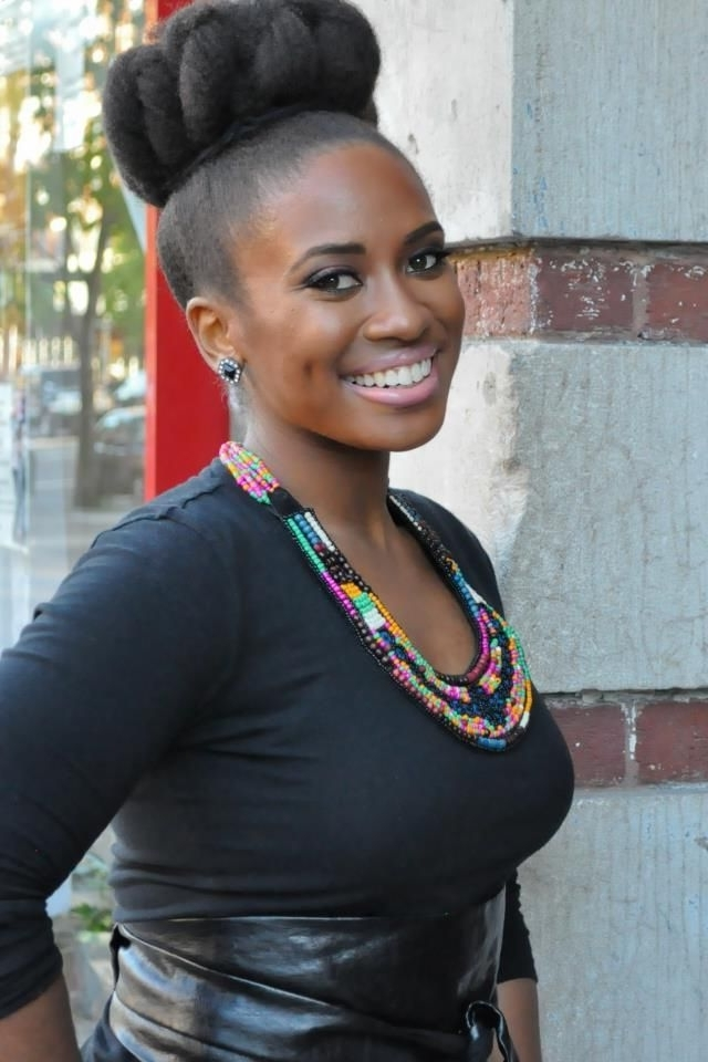 Easy Hairstyles For Black Women, Be Stylish With No Effort Within Most Up To Date Bulky Braided Crown Bun (View 6 of 15)
