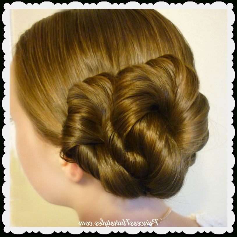 Easy Twist Updo Hairstyle – Hairstyles For Girls – Princess Hairstyles In Latest Fancy Twisted Updo Hairstyles (View 4 of 15)