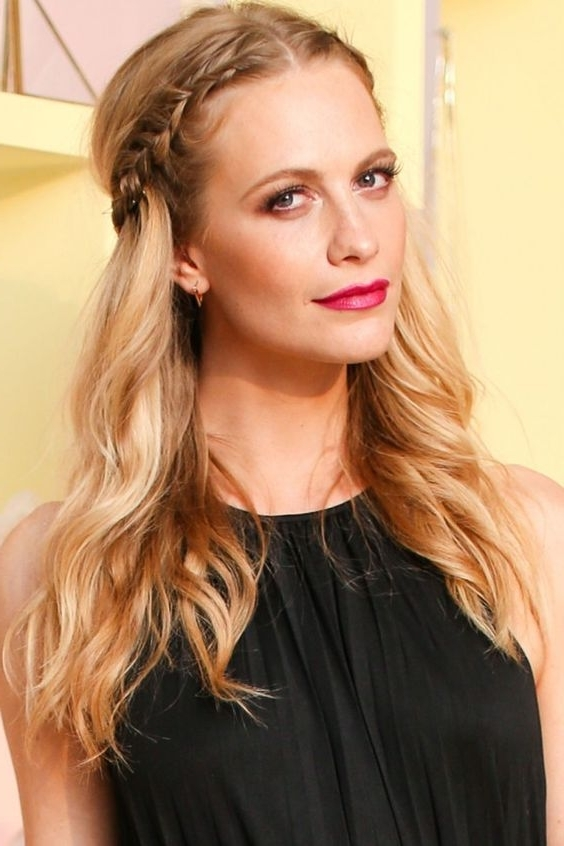 Easy Wavy Braid / Plaits Hairstyles Overnight Inside Current Middle Part Braided Hairstyles (View 3 of 15)