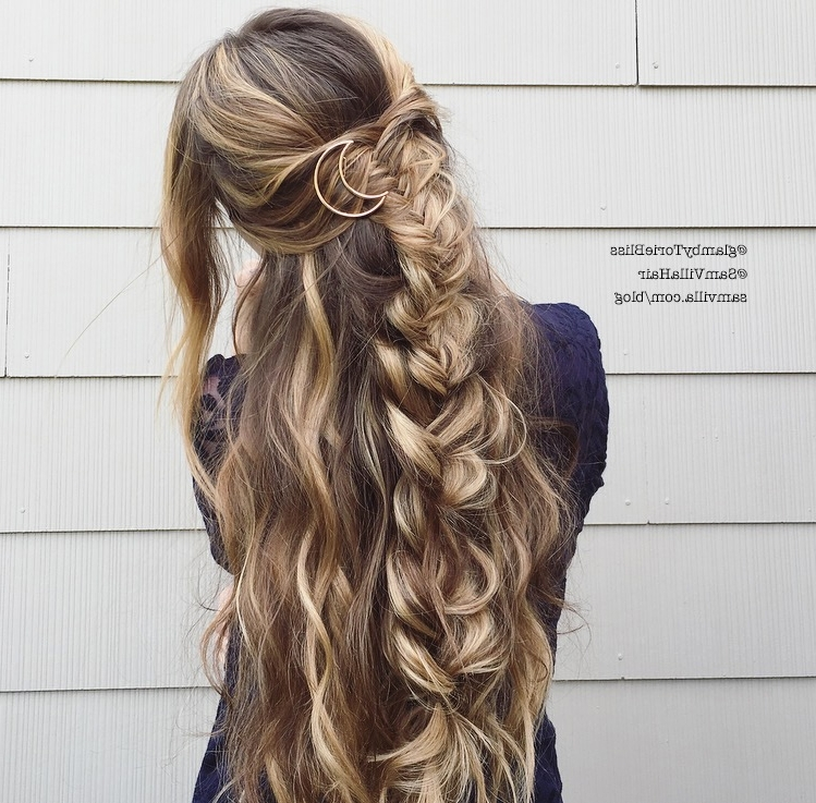 Effortless Diy Bohemian Braided Hairstyle Throughout Recent Boho Braided Hairstyles (View 7 of 15)