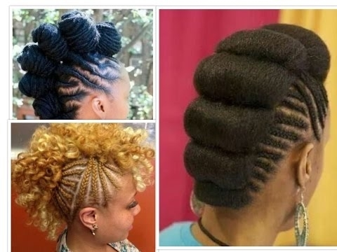 Elegant Braided Mohawk Hairstyles – Youtube Throughout Most Recently Box Braids And Cornrows Mohawk Hairstyles (View 12 of 15)