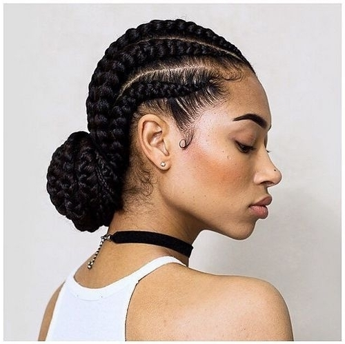 Elegant Cornrow Hairstyles For African American Hair | American Within Most Popular Black Cornrows Hairstyles (View 9 of 15)