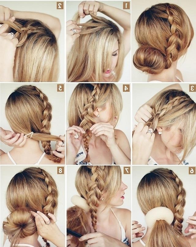Elegant Hairstyle – The Big Braided Bun – Alldaychic In Most Current Elegant Braid Hairstyles (View 11 of 15)