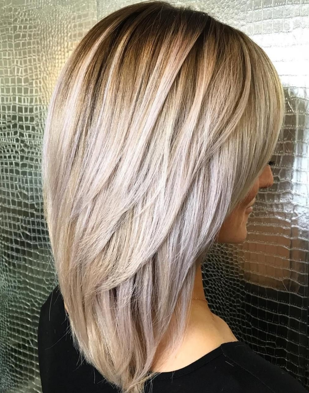 Elongated Layered Cut With Voluminous Crown | Beauty Hairstyles Inside Latest Pastel And Ash Pixie Haircuts With Fused Layers (View 4 of 15)