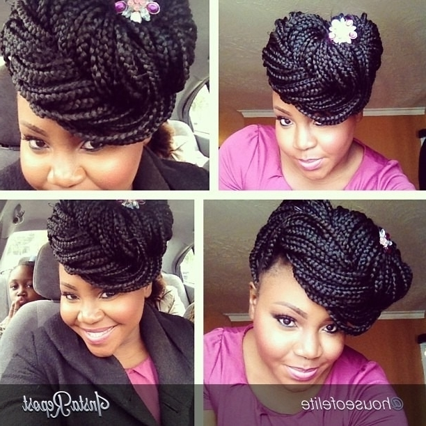 Featured Photo of Pinned Up Braided Hairstyles