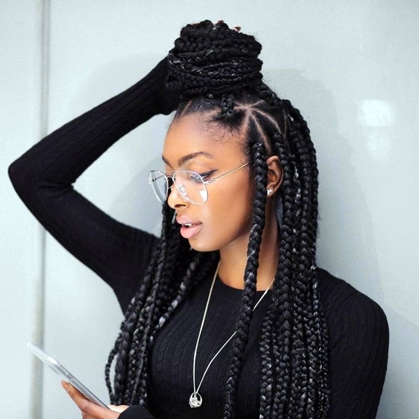 Enchanting Emejing Black Braided Hairstyles Contemporary Styles In Most Recently Black Braided Hairstyles (View 7 of 15)