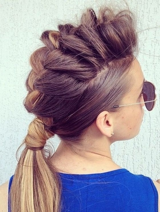 Erin Boha Hair On Insta – Mohawk Braid? | Tangled | Pinterest Regarding Most Recently Mohawk French Braid Hairstyles (View 8 of 15)