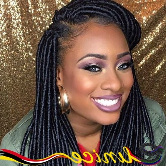Eunice Brand Faux Locs Braids Synthetic Hair Dreadlocs Braiding Hair With Most Current Braided Cornrows Loc Hairstyles For Women (View 2 of 15)