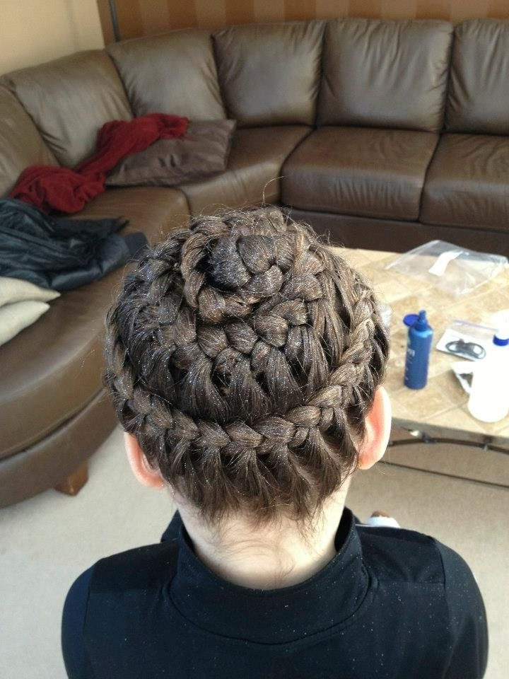 Everythingpretty Braided Brooklyn Law's Hair For A Gymnastics Intended For Most Recently Braided Gymnastics Hairstyles (View 15 of 15)