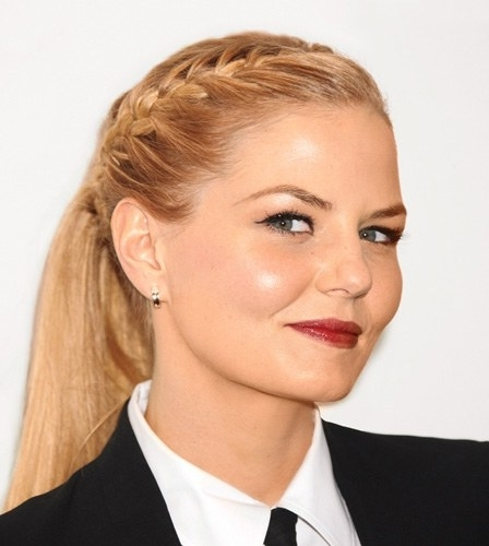 Exactly How To Rock Jennifer Morrison's Braided Ponytail | Glamour Pertaining To Current Wrapped Ponytail With In Front Of The Ear Braids (View 12 of 15)