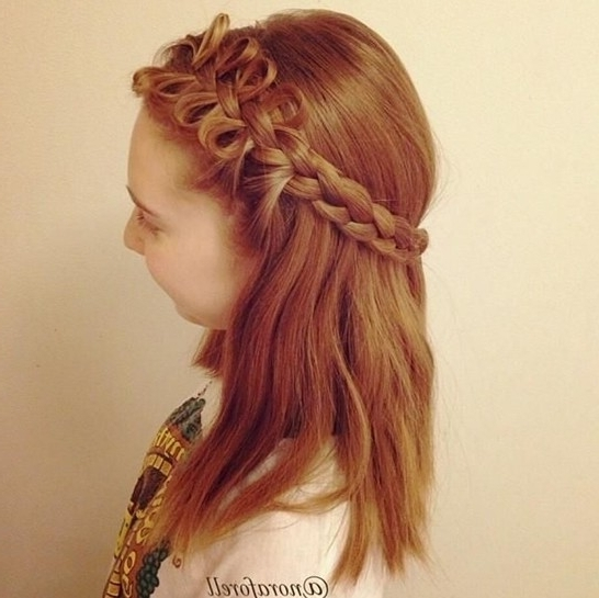 Exclusive Cute Girls Hairstyle Bow Braid – Hairzstyle In Current Elegant Bow Braid Hairstyles (View 11 of 15)