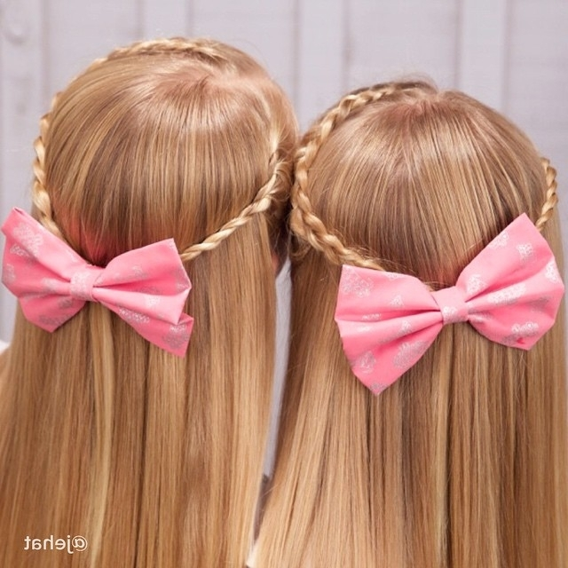 Exclusive Cute Girls Hairstyle Bow Braid – Hairzstyle With 2018 Elegant Bow Braid Hairstyles (View 3 of 15)