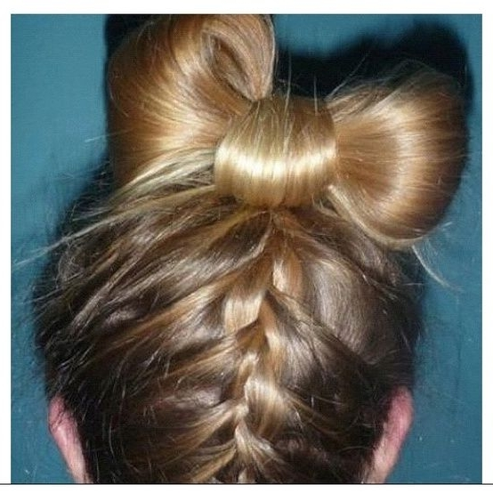 Exclusive Cute Girls Hairstyle Bow Braid – Hairzstyle Within Most Popular Elegant Bow Braid Hairstyles (View 7 of 15)