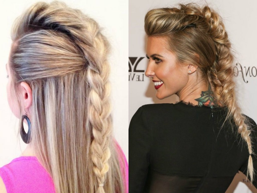 Expressive Women Braided Mohawk Hairstyles | Hairdrome Pertaining To With 2018 Braided Hairstyles For White Hair (View 8 of 15)