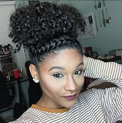 Fabulous Faux Headband Flat Twist | Puff Styles | Pinterest | Curly In Most Popular Crossed Twists And Afro Puff Pony (View 2 of 15)