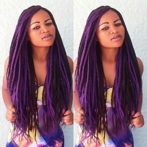 Fall 2014 Hair Trends For Black Women – 5 Unique Box Braid Hair Pertaining To Most Up To Date Braided Hairstyles With Color (View 6 of 15)