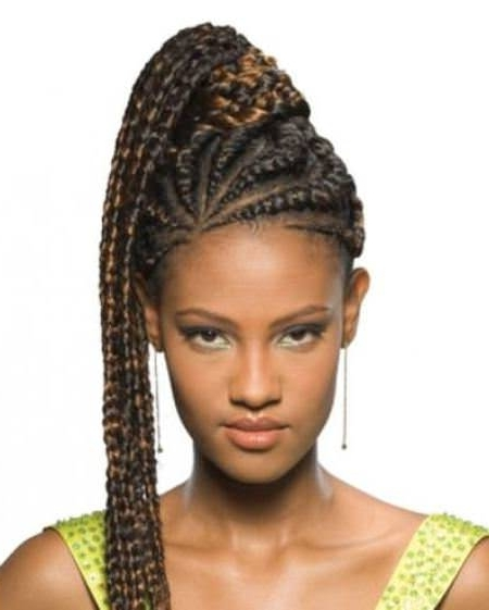 Fancy French Braids For Black Women Within Latest Revamped Braided Ponytail (View 5 of 15)