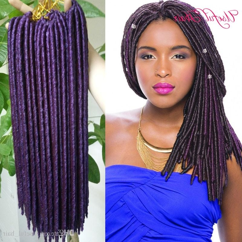 Faux Locs Crochet Braids 14,18Inch Synthetic Hairbraiding Braid Pertaining To Most Up To Date Braided Cornrows Loc Hairstyles For Women (View 12 of 15)