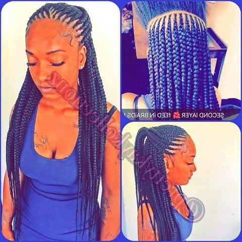 Feeder Braids 3 Layers | Braids | Pinterest Regarding Most Current Braided Layered Hairstyles (View 3 of 15)