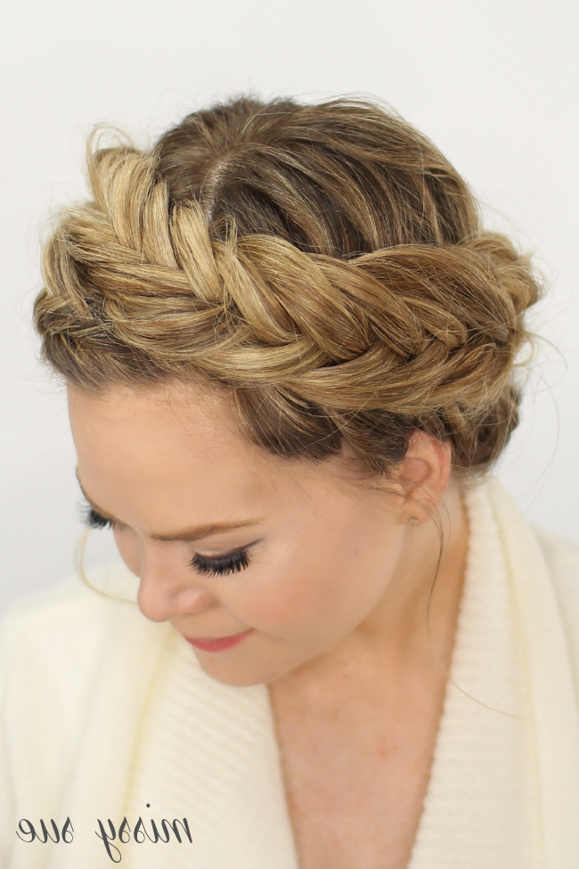 Fishtail Crown Braid Pertaining To Most Popular French Braids Crown And Side Fishtail (View 11 of 15)