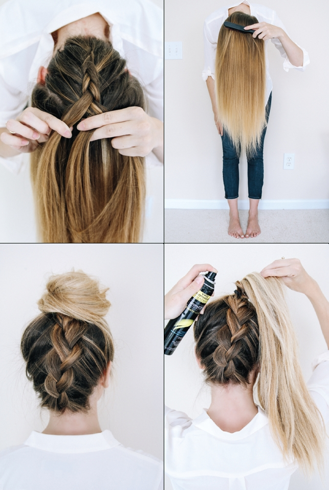 Follow This Tutorial For An Easy Upside Down Braid (View 3 of 15)