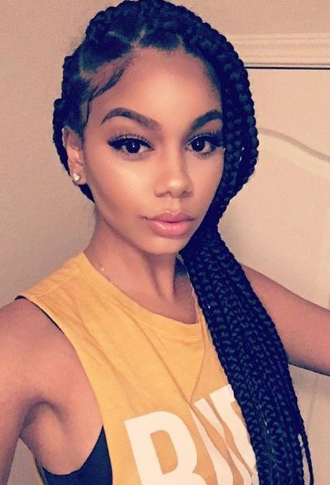 Formidable Twist Braid Hairstyles Ideas Red Twists And Box Braids Within Most Recently Twist From Box Braids Hairstyles (View 10 of 15)