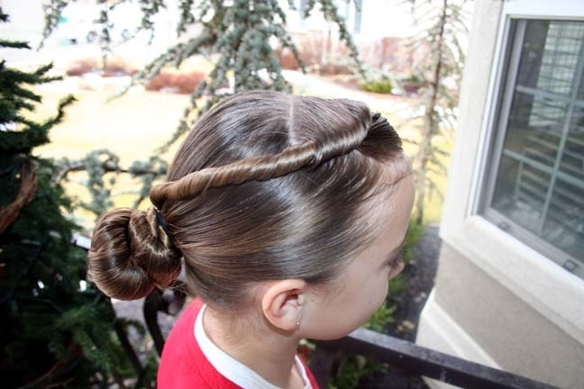 Forward Twistback Into Bun | Updo Hairstyles | Cute Girls Hairstyles Pertaining To Most Recently Updo With Forward Braided Bun (View 2 of 15)