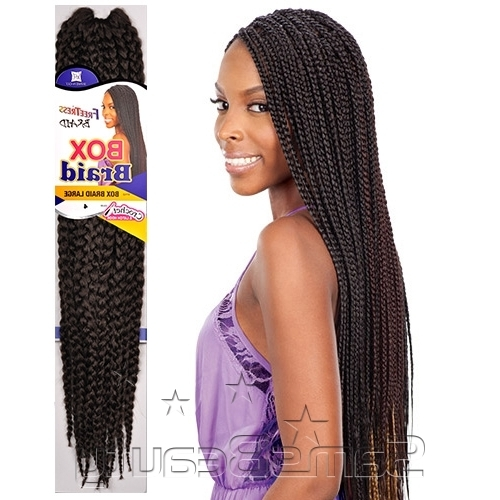 "Freetress Synthetic Hair Crochet Braid Large Box Braids 20"" – Samsbeauty With Regard To Most Recent Braided Hairstyles With Crochet (View 9 of 15)"