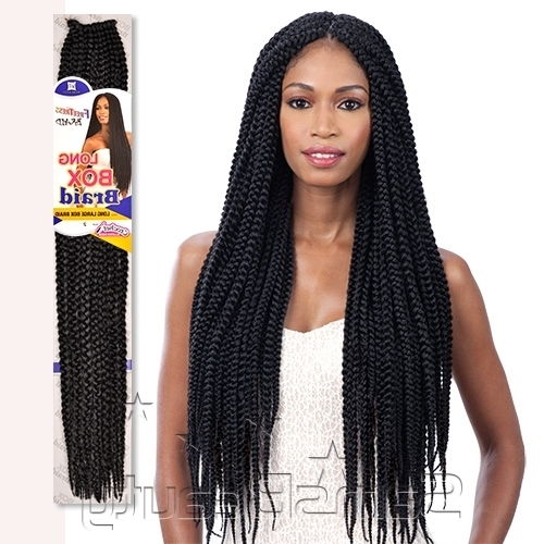 Freetress Synthetic Hair Crochet Braids Long Large Box Braid 24 Regarding Most Popular Two Extra Long Braids (View 10 of 15)